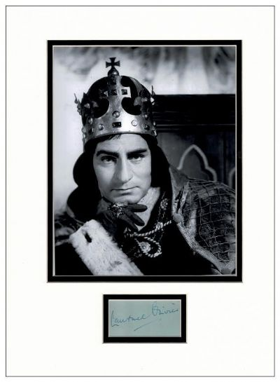 Laurence Olivier Authentic Autograph For Sale